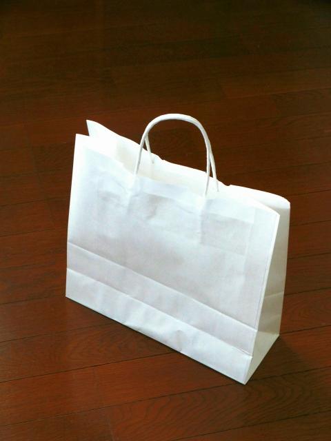 荷物を運ぶ紙袋